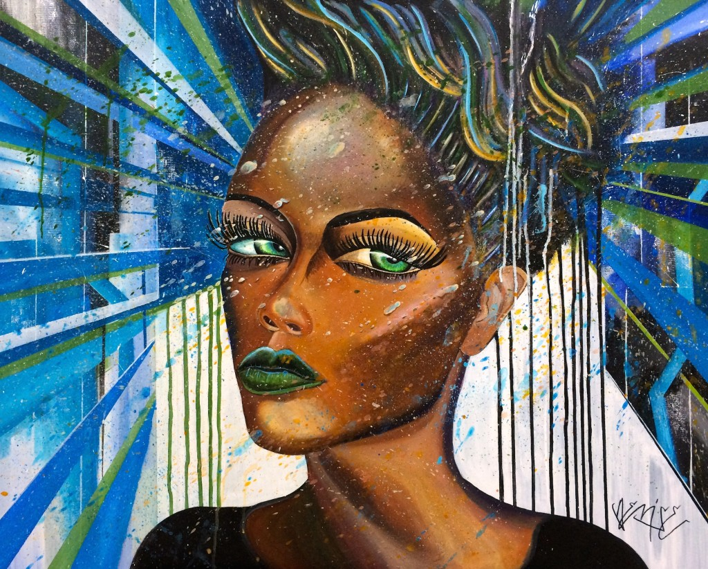 black woman 80x100 cm acryl