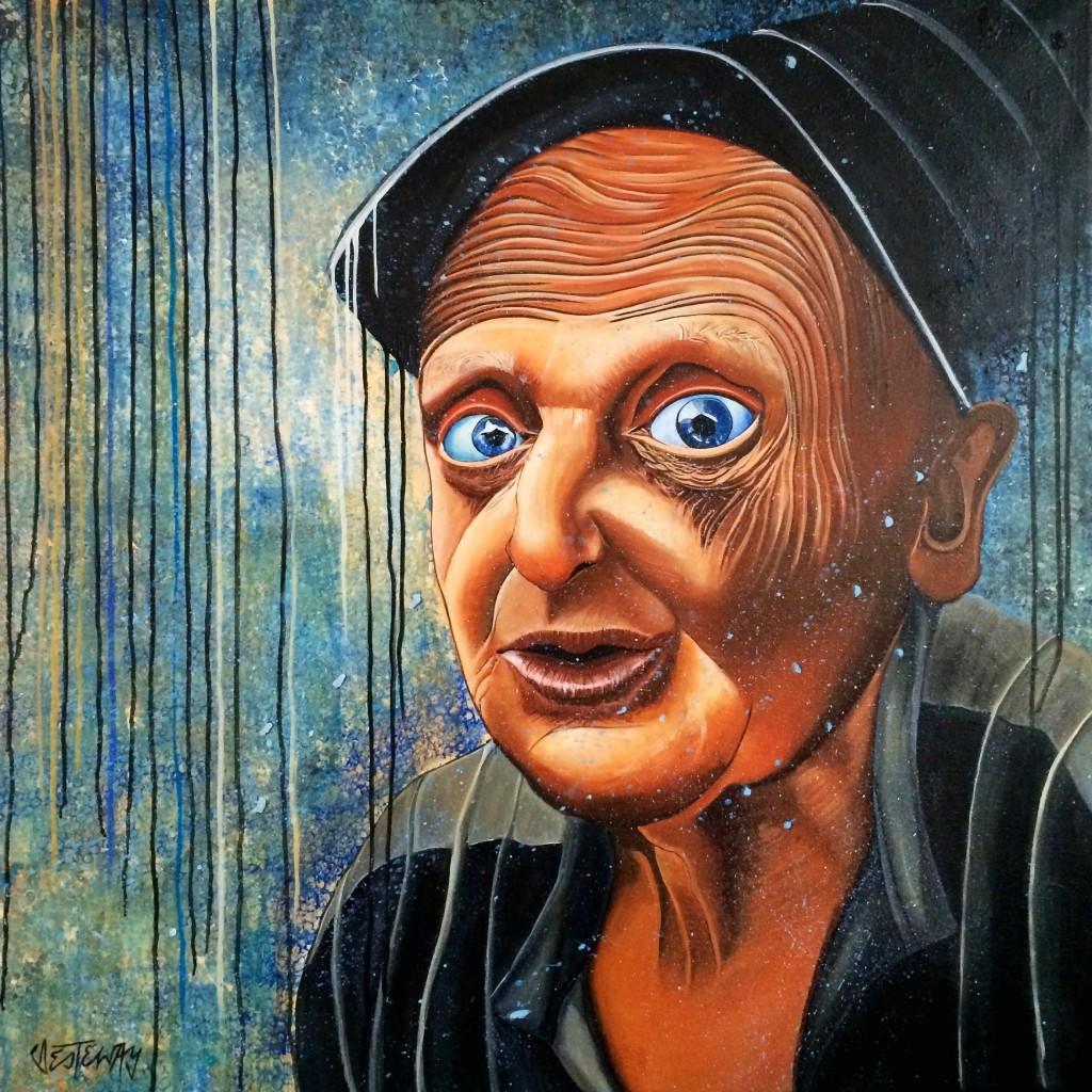 old man 100x100 cm acryl auf leinwand 2015
