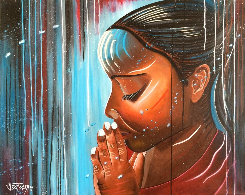 pray 80x100 cm acryl