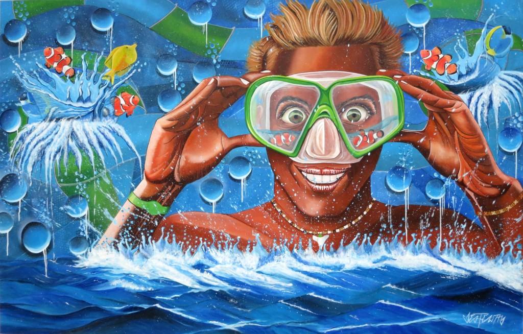 aquanaut 170x110 cm acryl auf leinwand 2015